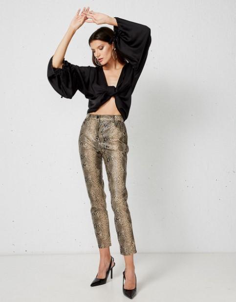 snake print παντελόνι
